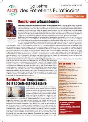 Lettre n° 1 Entretiens Eurafricains