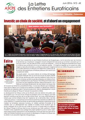 Lettre n° 2 Entretiens Eurafricains