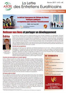 Lettre n° 3 Entretiens Eurafricains