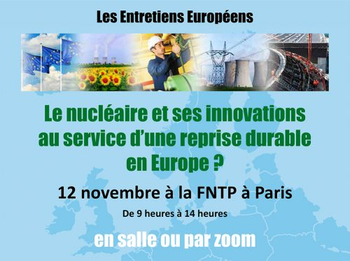 Invitation Entretiens Européens 12 novembre 2020 FNTP